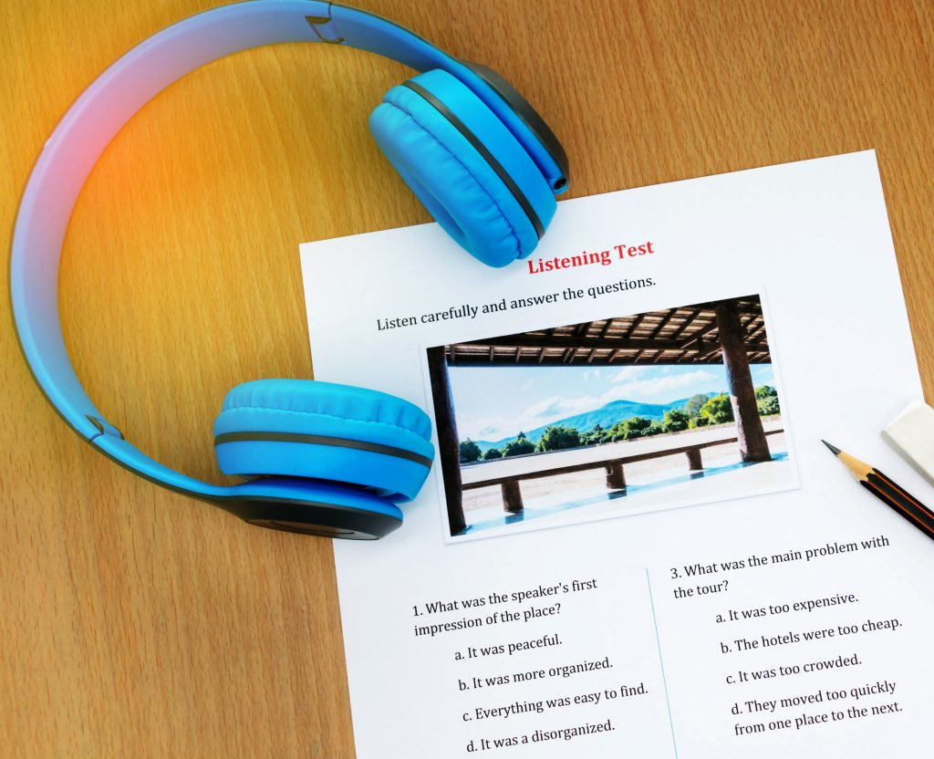 headphone and listening english test
